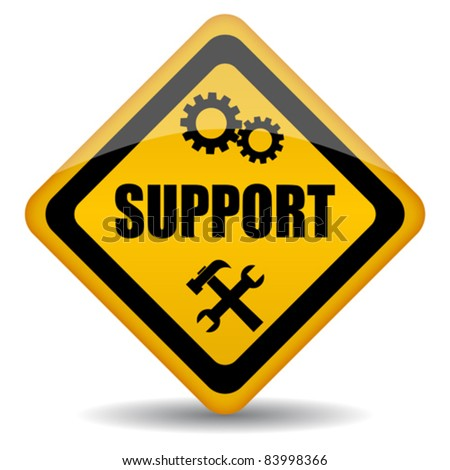 Vector support sign, eps10 illustration