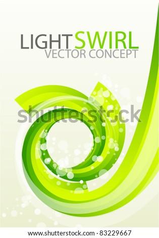 Vector swirl background - stock vector