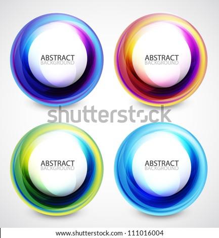 Vector swirl set - stock vector