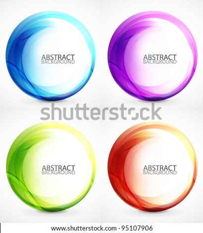 Vector swirl set - stock vector