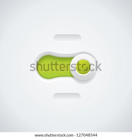 Vector switch button - stock vector