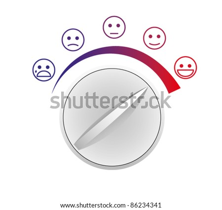 Vector switch of mood - stock vector