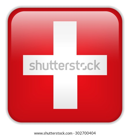 Vector - Switzerland Flag Smartphone Application Square Buttons - stock vector