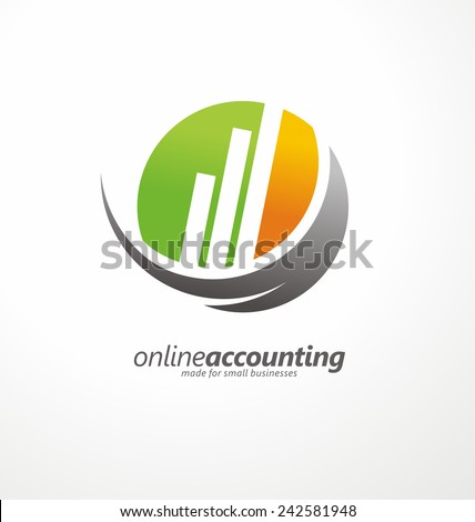 Vector symbol concept for accounting company - stock vector