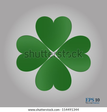 Vector Symbol for love and luck. Well organized eps 10 document with descriptive layer names and  global colors for quick and easy modifications - stock vector