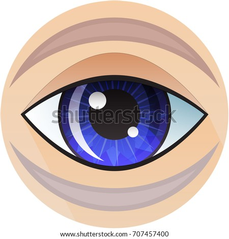 Vector Symbol Human Blue Eye On Stock Vector 707457400 Shutterstock