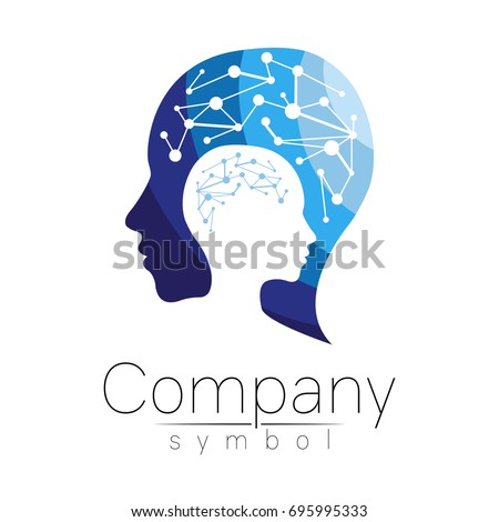 Psychology stock images royalty free images vectors shutterstock vector symbol of human head profile face blue color isolated on white background thecheapjerseys Image collections