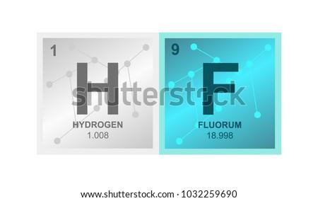 Vector Symbol Hydrofluoric Acid Hydrogen Fluoride Stock Vector 2018