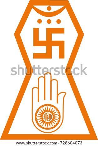 Vector Symbol Jainism Religion Stock Photo Photo Vector