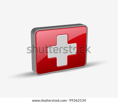 vector symbol of medical icons design. - stock vector