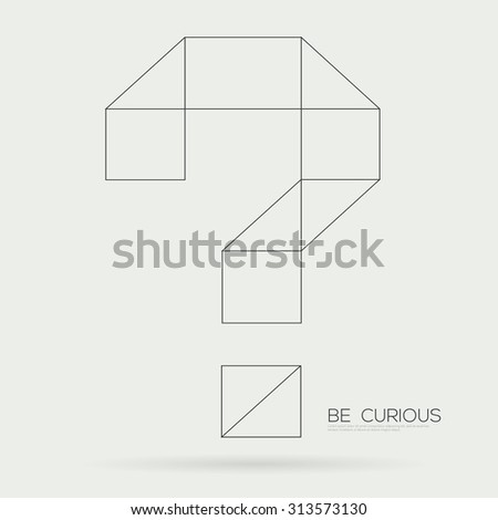 Vector symbol of question mark - stock vector