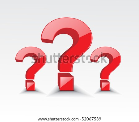 vector symbol of question mark in white background - stock vector