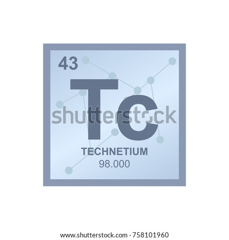 Vector symbol technetium periodic table elements stock vector vector symbol of technetium from the periodic table of the elements on the background from connected urtaz Images