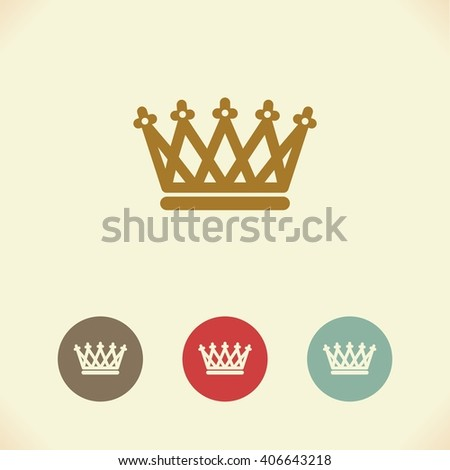 Vector symbol of the Royal crown. Illustration - stock vector