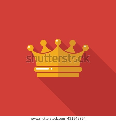 Vector symbol of the Royal crown. Illustration