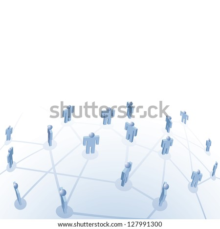 vector symbolic illustration for employment and connection of people - stock vector