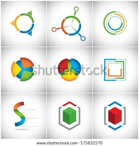 Vector symbols - stock vector