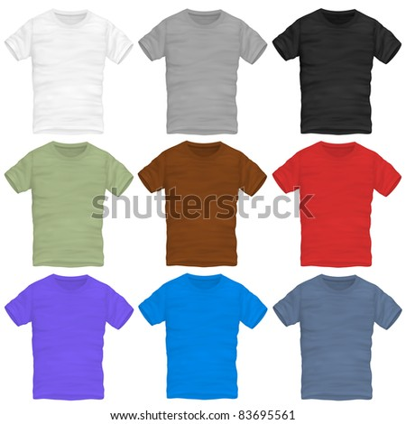 vector t-shirt design template - stock vector