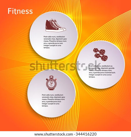 Vector tab template for fitness and health plan training. modern flyer layout, healthy lifestyle brochure, cover page sport magazine, web banner design elements. EPS 10 - stock vector