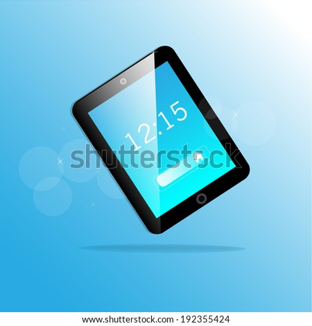 Vector tablet computer - stock vector