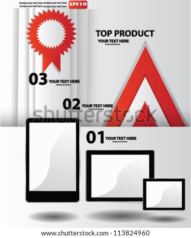 Vector tablet computer and mobile phone - stock vector