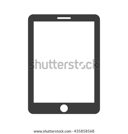 Vector Tablet icon. Flat icon Tablet. Flat vector illustration for web banner, web and mobile. Vector Tablet icon graphic. Vector icon isolated on white background. Tablet vector icon in black.  - stock vector