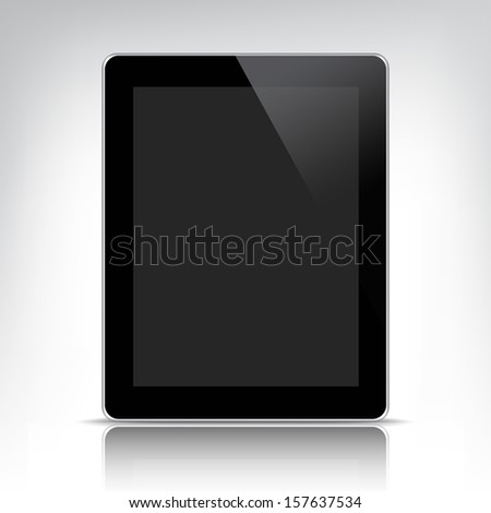 vector tablet pc computer, empty apple ipad for presentation - stock vector