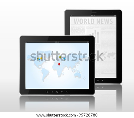 Vector 2 tablets pc with black frame