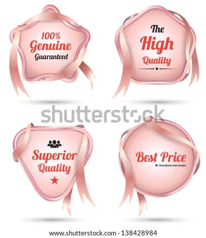 Vector tag ribbon for promotion / guarantee /best price - stock vector