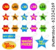 vector tag set - stock vector