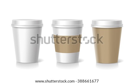 Vector Takeaway  coffee cup  templates  illustration isolated