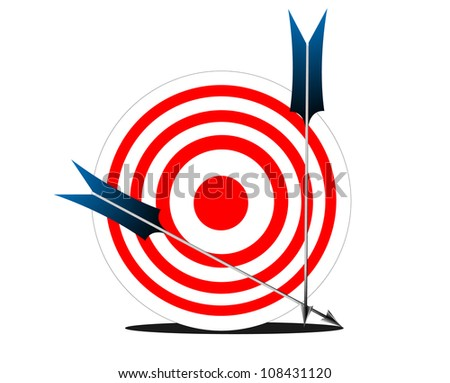 Vector Target and Arrow - stock vector