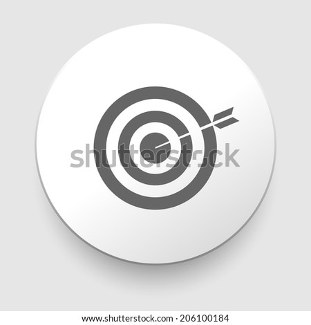 Vector Target and Arrow on white background. EPS10 illustration - stock vector