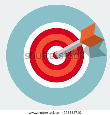 Vector target icon - stock vector