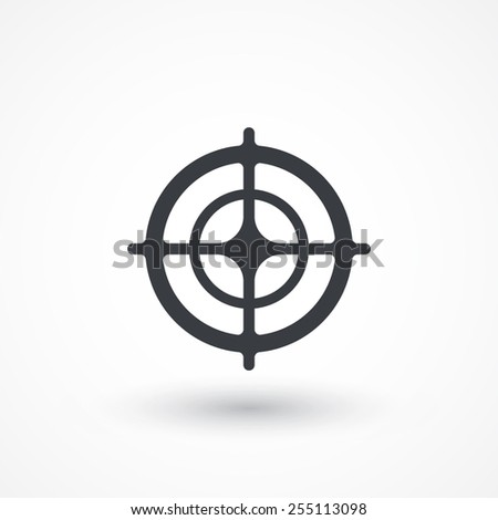 Vector target icon, isolated. Symbol - stock vector