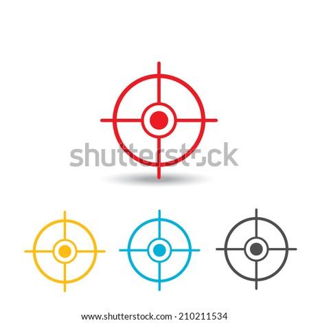 vector target icons set. logo design template - stock vector