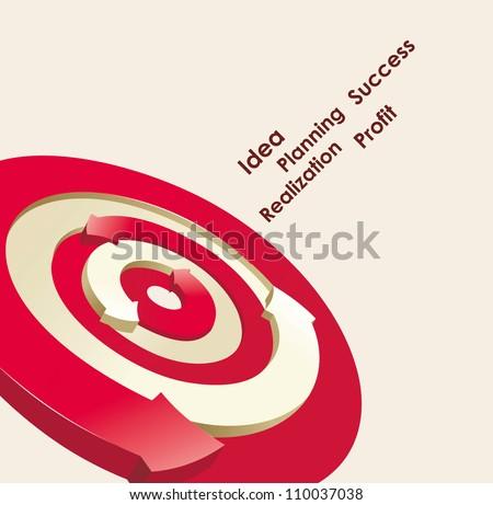 Vector Target with arrow - stock vector