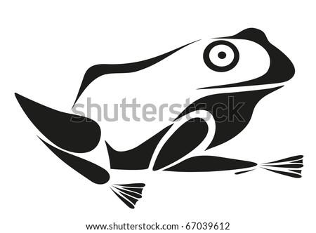 vector tattoo - frog - stock vector