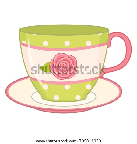 how to draw a teacup and saucer