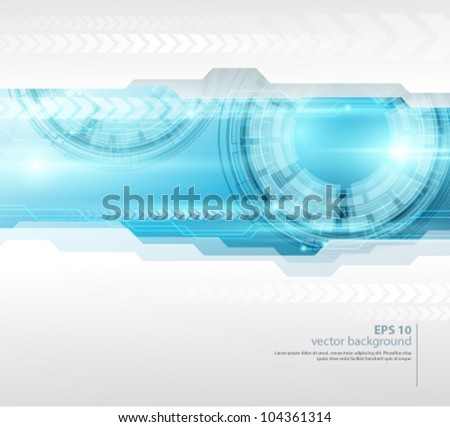 Vector tech background - stock vector