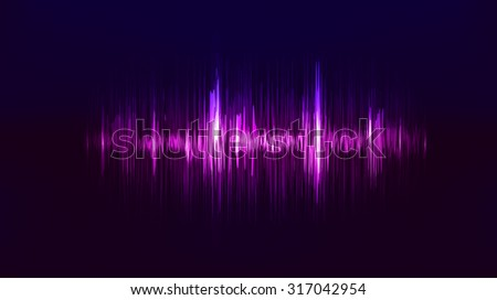 Vector techno background with vibration sound. Resonance. Pulse. cardiogram - stock vector