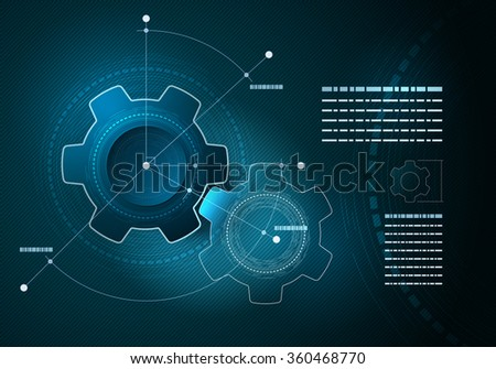 Vector technological infographic layout design. Elements are layered separately in vector file. - stock vector