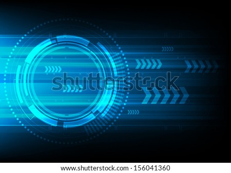 vector technology arrow speed, electronic background - stock vector
