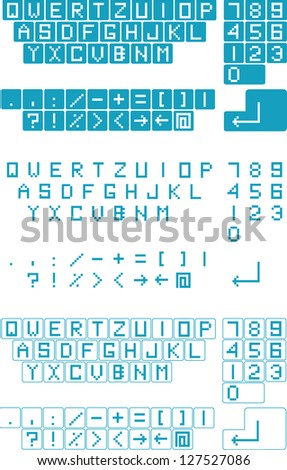 Vector Technology Background Computer Keyboard Letters Stock Vector