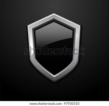 Vector technology glass shield - stock vector