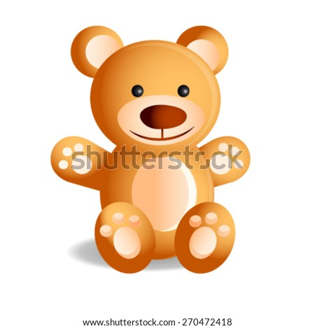 Vector: Teddy Bear - stock vector