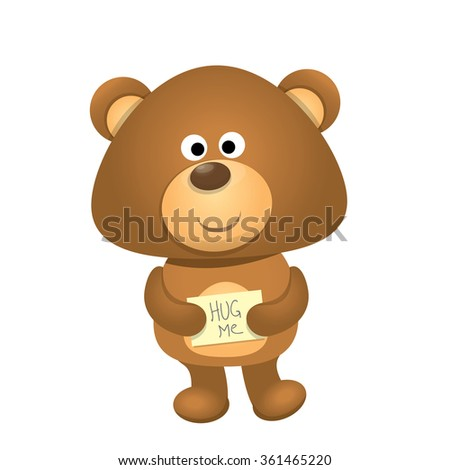 vector Teddy bear isolated on white background. funny kids toy