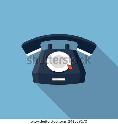Vector Telephone Icon - stock vector