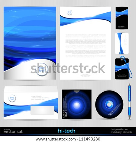 Vector Template Background. Design elements.