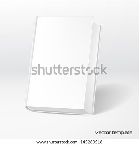 Vector template book cover. Add your design and inscription. - stock vector